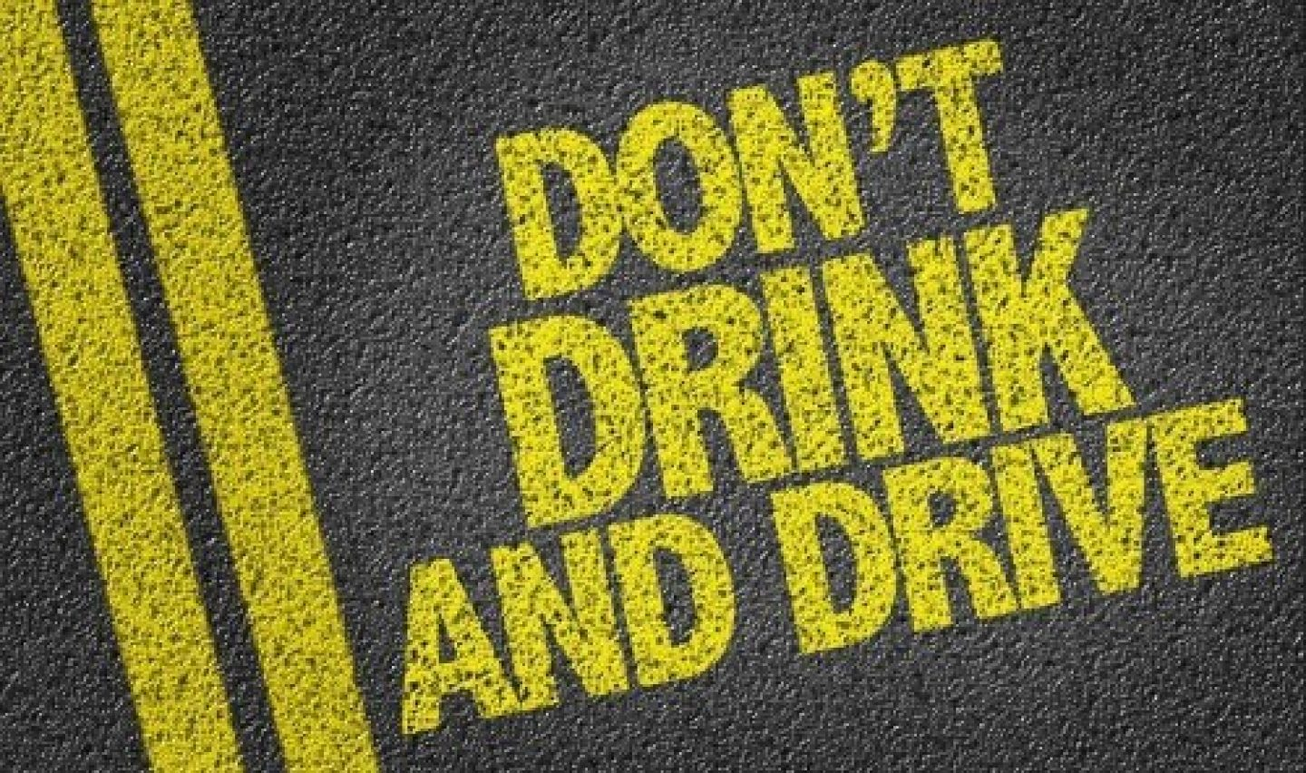 Don't drink and drive message