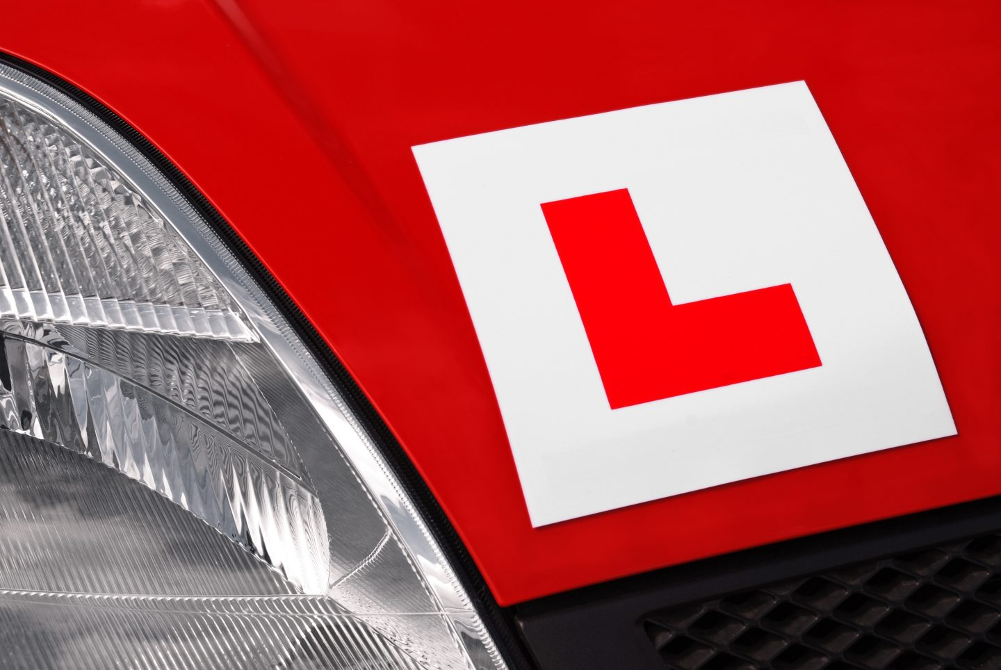 L-plate learner driver
