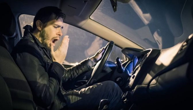 Fatigued driver