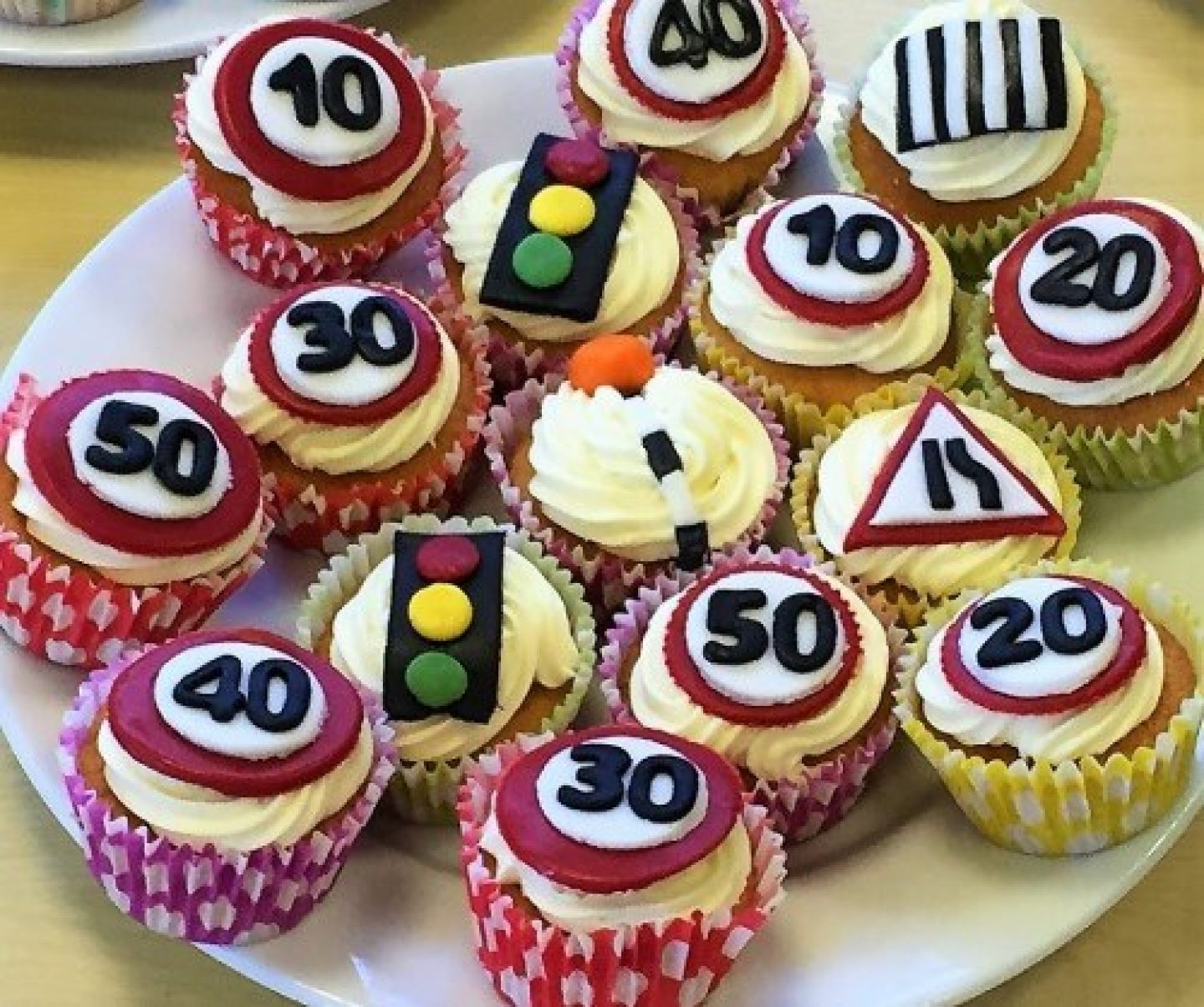 Road safety cupcakes
