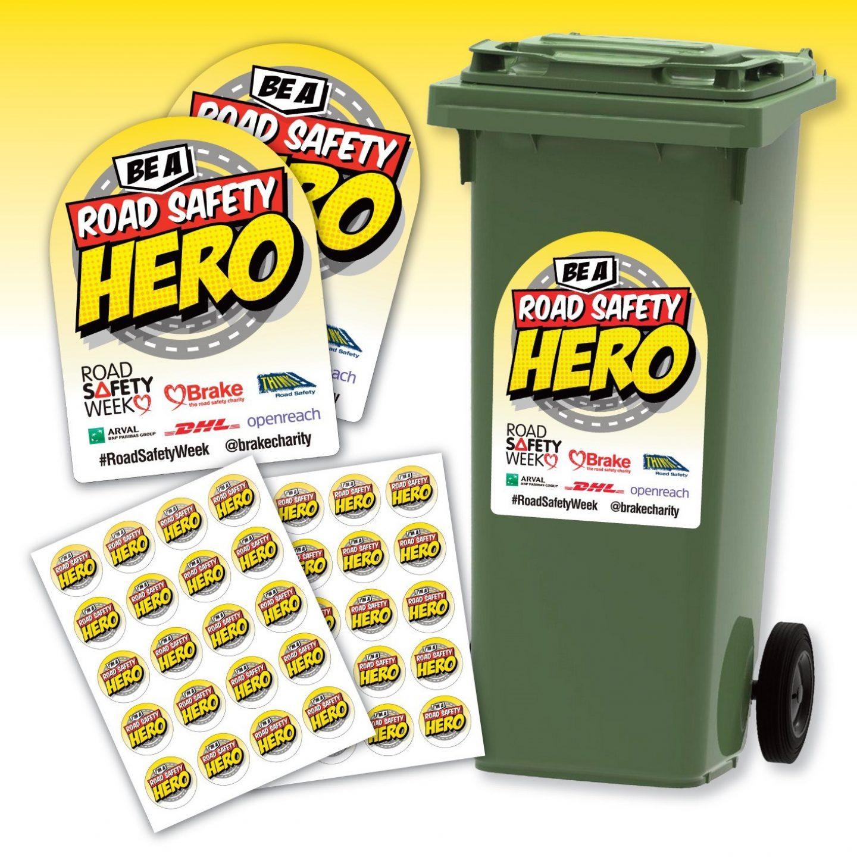 Shop bundle wheelie bin stickers and selfie props