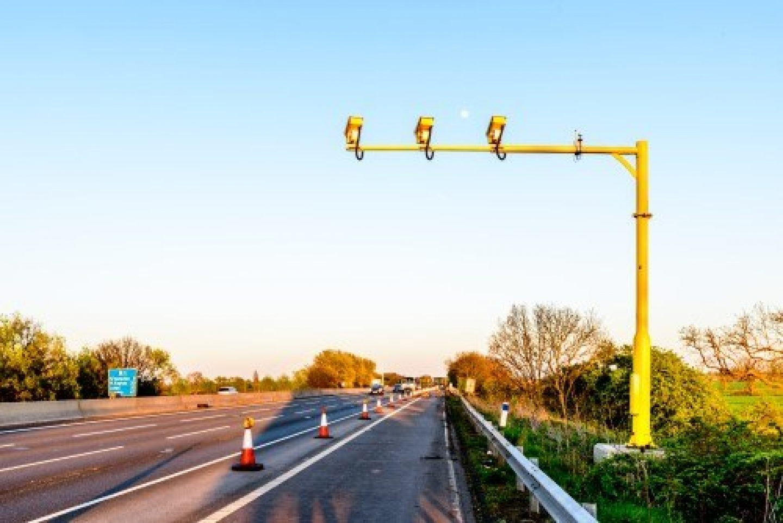 Average speed camera on motorway