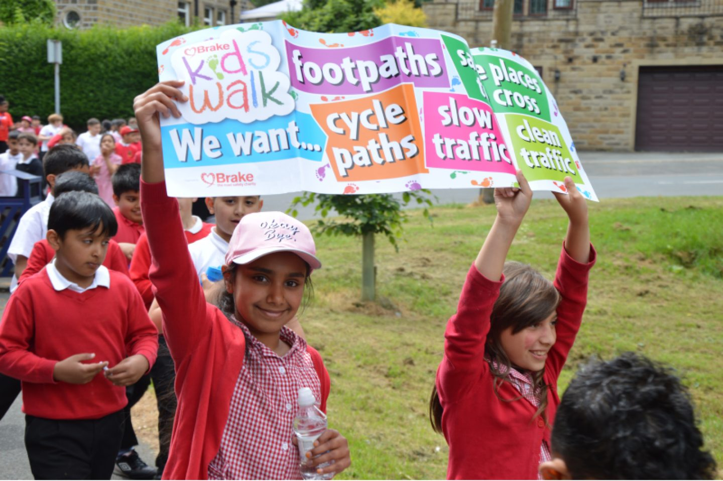 Children campaigning Brake Kids Walk 2