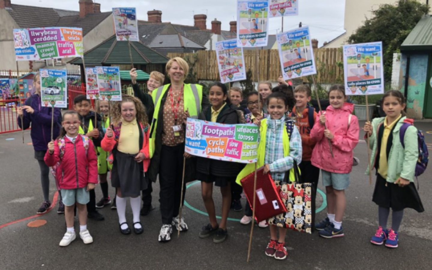 Children campaigning Brake Kids Walk 3