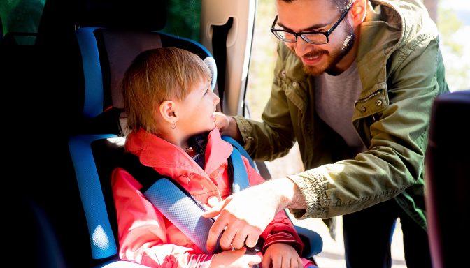 Child in car seat