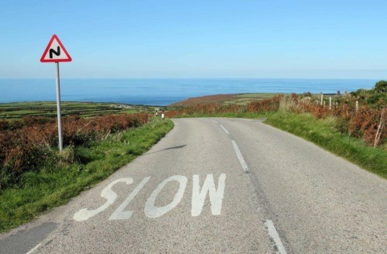 Speed rural road slow