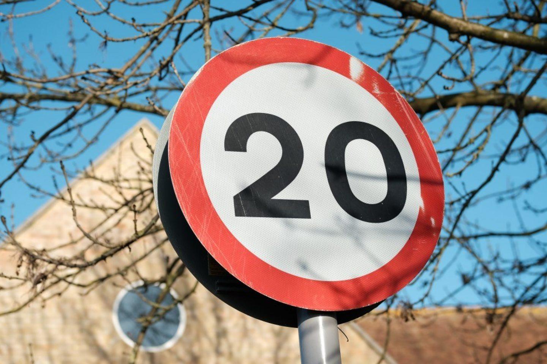 20mph zone sign 2
