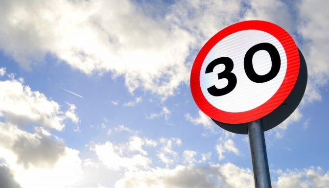 30mph sign
