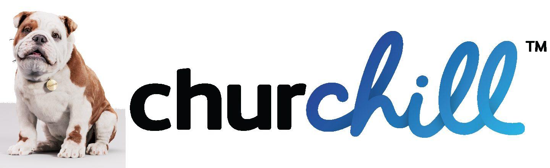 Churchill logo dog horizontal TM TRANS