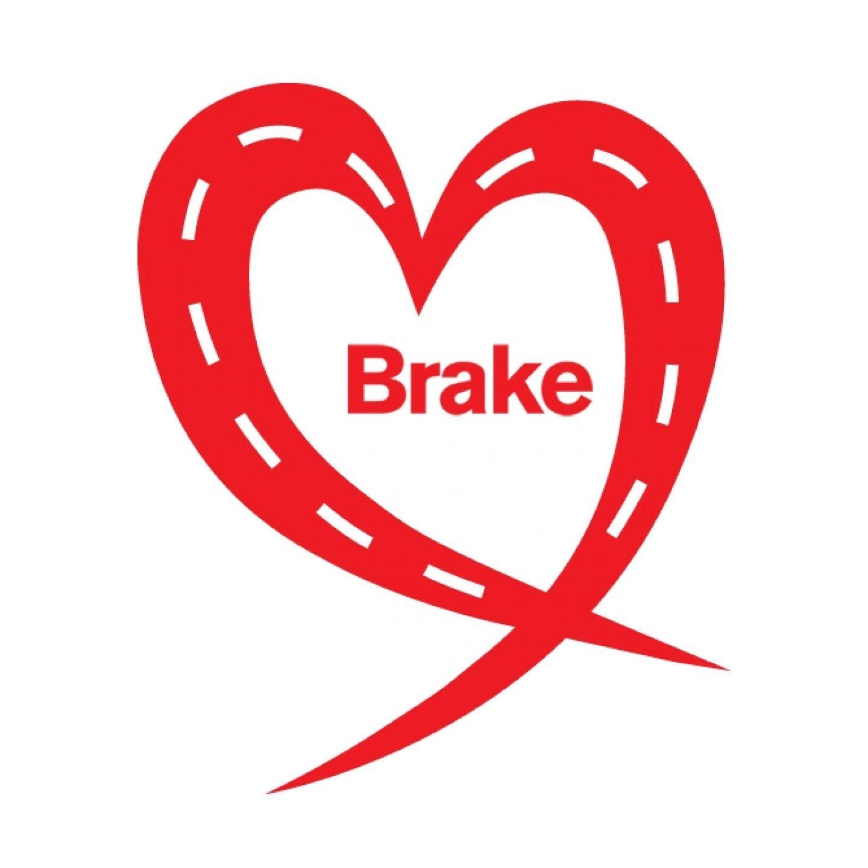Brake logo heart red square
