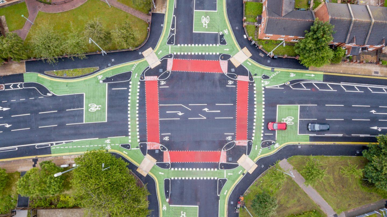 Royce Road CYCLOPS junction aerial view