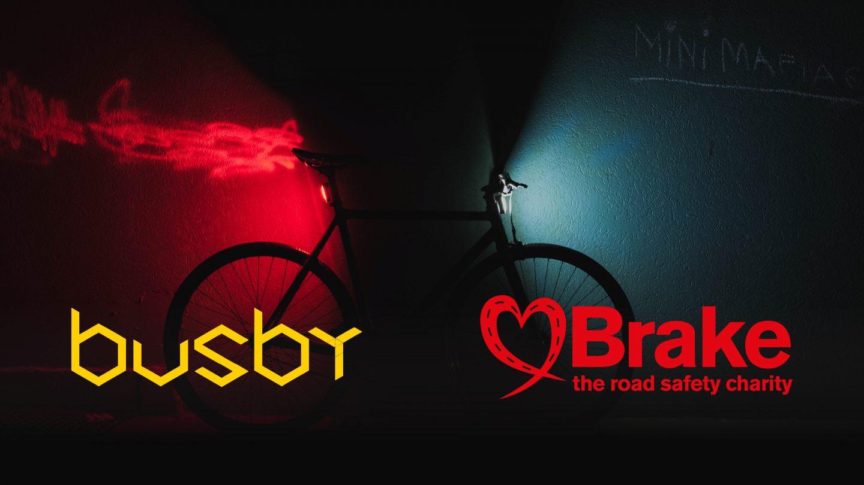 Busby x Brake announcement creative black 16x9